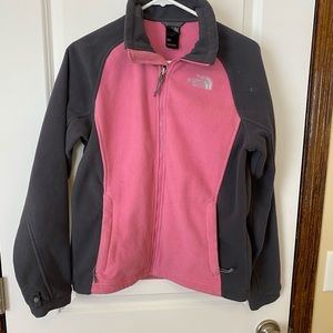 The North Face fleece pink and grey size M